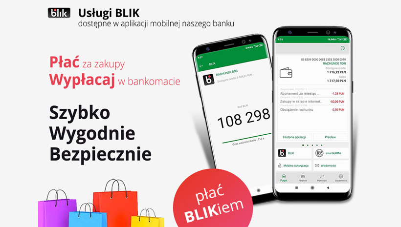 Usługi BLIK w Banku Spółdzielczym w Sokółce